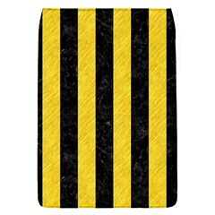 Stripes1 Black Marble & Yellow Colored Pencil Flap Covers (s)