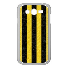 Stripes1 Black Marble & Yellow Colored Pencil Samsung Galaxy Grand Duos I9082 Case (white)