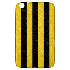 Stripes1 Black Marble & Yellow Colored Pencil Samsung Galaxy Tab 3 (8 ) T3100 Hardshell Case