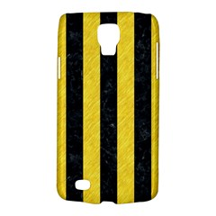 Stripes1 Black Marble & Yellow Colored Pencil Galaxy S4 Active
