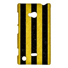 Stripes1 Black Marble & Yellow Colored Pencil Nokia Lumia 720