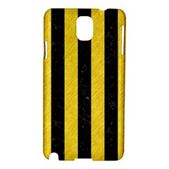 Stripes1 Black Marble & Yellow Colored Pencil Samsung Galaxy Note 3 N9005 Hardshell Case
