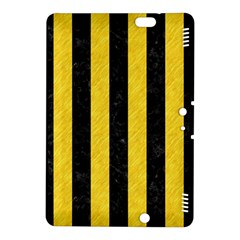 Stripes1 Black Marble & Yellow Colored Pencil Kindle Fire Hdx 8 9  Hardshell Case