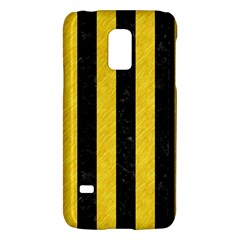 Stripes1 Black Marble & Yellow Colored Pencil Galaxy S5 Mini