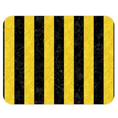 Stripes1 Black Marble & Yellow Colored Pencil Double Sided Flano Blanket (medium)
