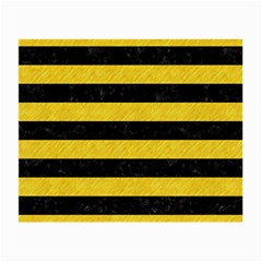 Stripes2 Black Marble & Yellow Colored Pencil Small Glasses Cloth (2 Side)