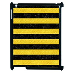 Stripes2 Black Marble & Yellow Colored Pencil Apple Ipad 2 Case (black)