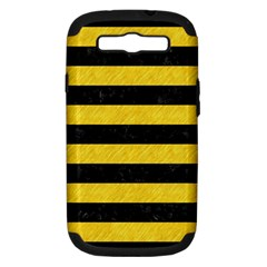 Stripes2 Black Marble & Yellow Colored Pencil Samsung Galaxy S Iii Hardshell Case (pc+silicone)