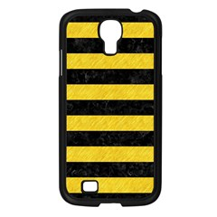 Stripes2 Black Marble & Yellow Colored Pencil Samsung Galaxy S4 I9500/ I9505 Case (black)