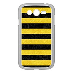 Stripes2 Black Marble & Yellow Colored Pencil Samsung Galaxy Grand Duos I9082 Case (white)