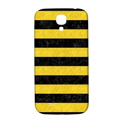 Stripes2 Black Marble & Yellow Colored Pencil Samsung Galaxy S4 I9500/i9505  Hardshell Back Case