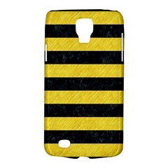Stripes2 Black Marble & Yellow Colored Pencil Galaxy S4 Active