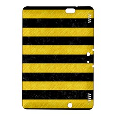 Stripes2 Black Marble & Yellow Colored Pencil Kindle Fire Hdx 8 9  Hardshell Case