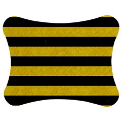 Stripes2 Black Marble & Yellow Colored Pencil Jigsaw Puzzle Photo Stand (bow)