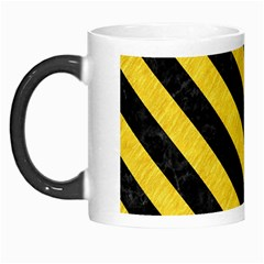 Stripes3 Black Marble & Yellow Colored Pencil Morph Mugs