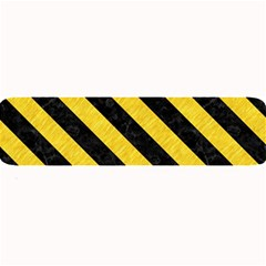 Stripes3 Black Marble & Yellow Colored Pencil Large Bar Mats