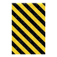 Stripes3 Black Marble & Yellow Colored Pencil Shower Curtain 48  X 72  (small)