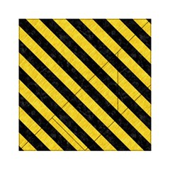 Stripes3 Black Marble & Yellow Colored Pencil Acrylic Tangram Puzzle (6  X 6 )
