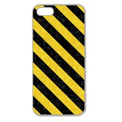 Stripes3 Black Marble & Yellow Colored Pencil Apple Seamless Iphone 5 Case (clear)