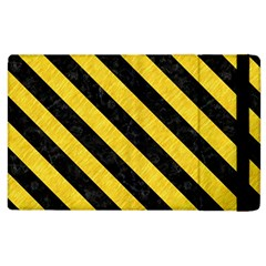 Stripes3 Black Marble & Yellow Colored Pencil Apple Ipad 2 Flip Case