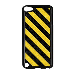 Stripes3 Black Marble & Yellow Colored Pencil Apple Ipod Touch 5 Case (black)