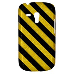 Stripes3 Black Marble & Yellow Colored Pencil Galaxy S3 Mini