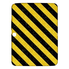 Stripes3 Black Marble & Yellow Colored Pencil Samsung Galaxy Tab 3 (10 1 ) P5200 Hardshell Case
