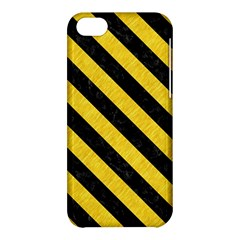Stripes3 Black Marble & Yellow Colored Pencil Apple Iphone 5c Hardshell Case
