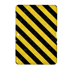 Stripes3 Black Marble & Yellow Colored Pencil Samsung Galaxy Tab 2 (10 1 ) P5100 Hardshell Case