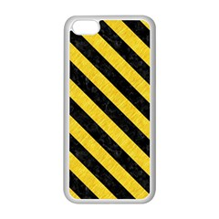 Stripes3 Black Marble & Yellow Colored Pencil Apple Iphone 5c Seamless Case (white)