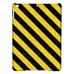 Stripes3 Black Marble & Yellow Colored Pencil Ipad Air Hardshell Cases