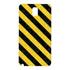 Stripes3 Black Marble & Yellow Colored Pencil Samsung Galaxy Note 3 N9005 Hardshell Back Case