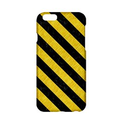 Stripes3 Black Marble & Yellow Colored Pencil Apple Iphone 6/6s Hardshell Case