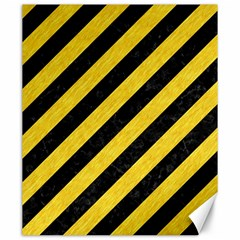 Stripes3 Black Marble & Yellow Colored Pencil (r) Canvas 20  X 24