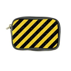 Stripes3 Black Marble & Yellow Colored Pencil (r) Coin Purse