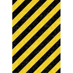 Stripes3 Black Marble & Yellow Colored Pencil (r) 5 5  X 8 5  Notebooks