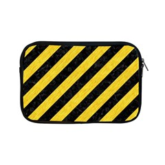 Stripes3 Black Marble & Yellow Colored Pencil (r) Apple Ipad Mini Zipper Cases