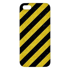 Stripes3 Black Marble & Yellow Colored Pencil (r) Iphone 5s/ Se Premium Hardshell Case