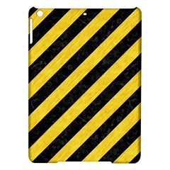 Stripes3 Black Marble & Yellow Colored Pencil (r) Ipad Air Hardshell Cases
