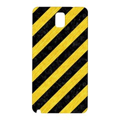 Stripes3 Black Marble & Yellow Colored Pencil (r) Samsung Galaxy Note 3 N9005 Hardshell Back Case