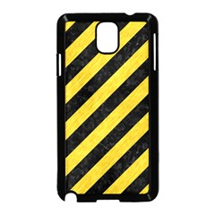 Stripes3 Black Marble & Yellow Colored Pencil (r) Samsung Galaxy Note 3 Neo Hardshell Case (black)