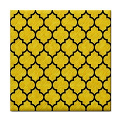 Tile1 Black Marble & Yellow Colored Pencil Tile Coasters