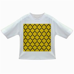 Tile1 Black Marble & Yellow Colored Pencil Infant/toddler T Shirts