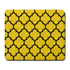Tile1 Black Marble & Yellow Colored Pencil Large Mousepads