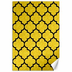 Tile1 Black Marble & Yellow Colored Pencil Canvas 20  X 30