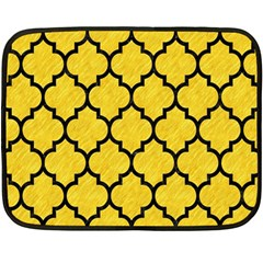 Tile1 Black Marble & Yellow Colored Pencil Fleece Blanket (mini)