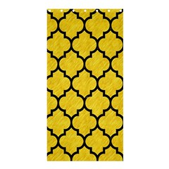 Tile1 Black Marble & Yellow Colored Pencil Shower Curtain 36  X 72  (stall)