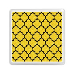 Tile1 Black Marble & Yellow Colored Pencil Memory Card Reader (square)