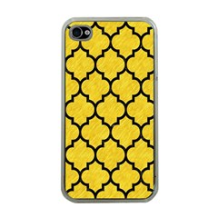 Tile1 Black Marble & Yellow Colored Pencil Apple Iphone 4 Case (clear)