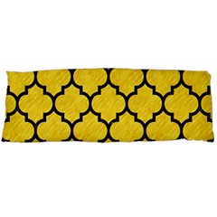 Tile1 Black Marble & Yellow Colored Pencil Body Pillow Case Dakimakura (two Sides)